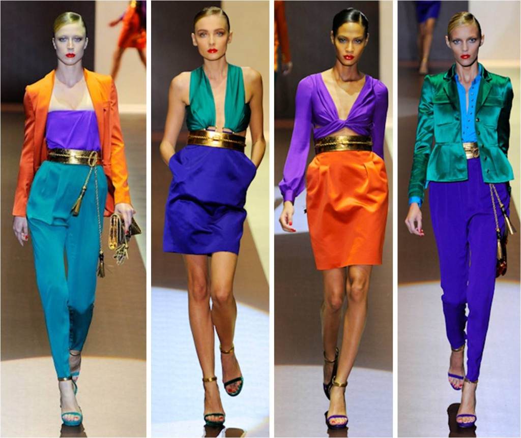 gucci color blocking